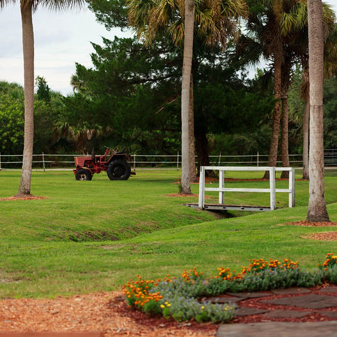 tractor and grounds